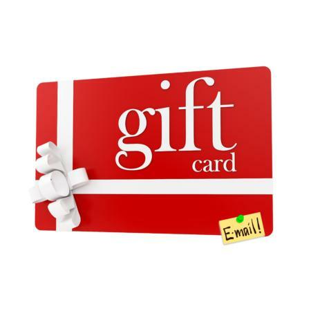Gift card via e-mail